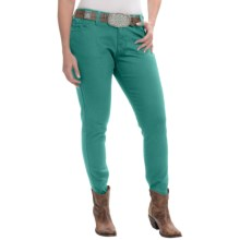 Wrangler Premium Patch Jeans - Ultra-Low Rise (For Women) in Green - 2nds