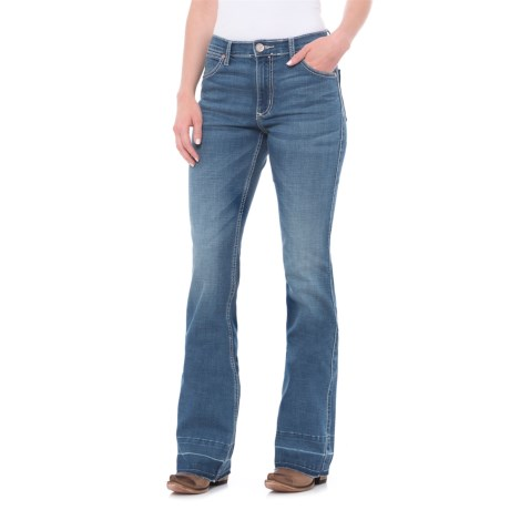 Wrangler Premium Patch Mae Jeans - Flare Leg (For Women)
