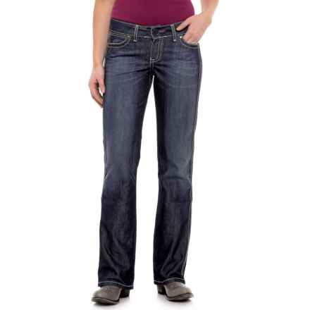 Wrangler Premium Patch Mae Jeans - Low Rise (For Women) in Blue Frost - Closeouts