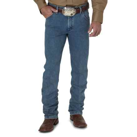 Wrangler Premium Performance Advanced Comfort Jeans - Cowboy Cut®, Regular Fit (For Men) in Stone Bleach - 2nds
