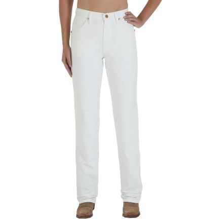 Wrangler Prewashed Classic Cowboy Cut Jeans - Slim Fit, Tapered Leg (For Women) in White - 2nds