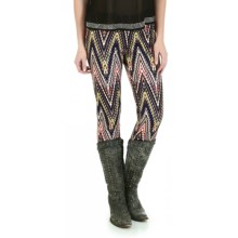 Wrangler Printed Leggings (For Women) in Navy/Pink Multi - Closeouts