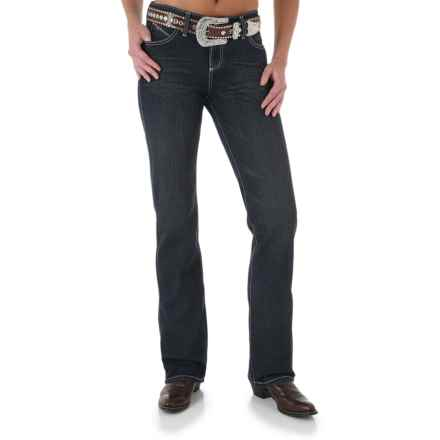 Wrangler Q-Baby Jeans - Mid Rise, Bootcut (For Women) in Absolute Star - 2nds