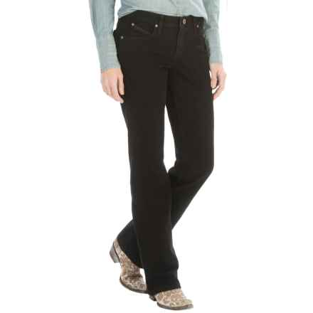 Wrangler Q-Baby Jeans - Mid Rise, Bootcut (For Women) in Black - 2nds