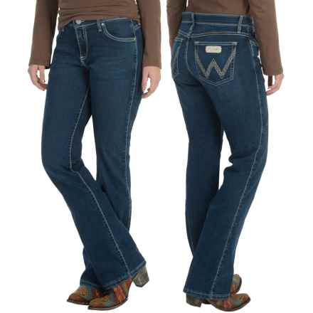 Wrangler Q-Baby Jeans - Mid Rise, Bootcut (For Women) in Blue Wash - 2nds