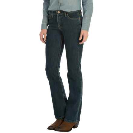 Wrangler Q-Baby Jeans - Mid Rise, Bootcut (For Women) in Dark Dynasty - 2nds