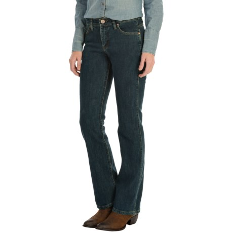 Wrangler Q-Baby Jeans - Mid Rise, Bootcut (For Women) in Dark Dynasty