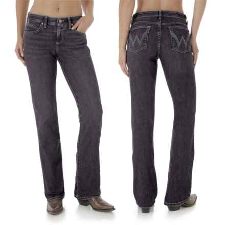 Wrangler Q-Baby Jeans - Mid Rise, Bootcut (For Women) in Gk Wash - 2nds