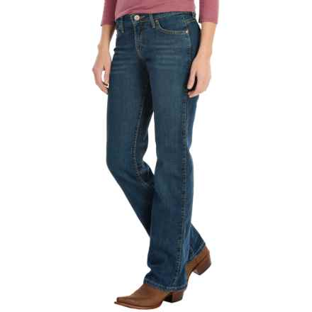 Wrangler Q-Baby Jeans - Mid Rise, Bootcut (For Women) in True Blue - 2nds