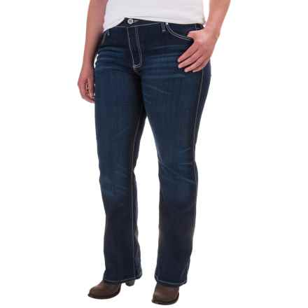 Wrangler Q-Baby Jeans - Mid Rise, Bootcut (For Women) in Tuff Buck - 2nds