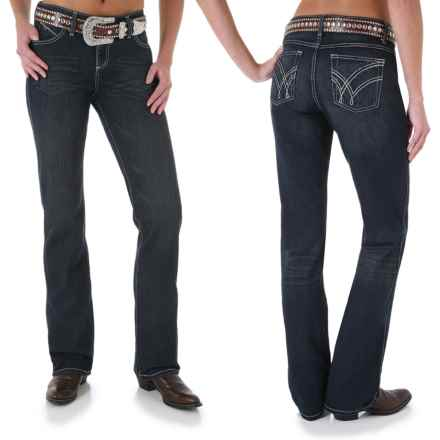 Wrangler Q-Baby Ultimate Riding Jeans - Cowgirl Cut (For Women) in Absolute Star - 2nds