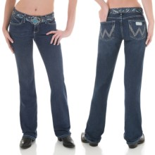 Wrangler Q-Baby Ultimate Riding Jeans - Cowgirl Cut (For Women) in Blue Wash - 2nds