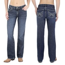 Wrangler Q-Baby Ultimate Riding Jeans - Cowgirl Cut (For Women) in Bu Wash - 2nds