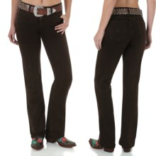 Wrangler Q-Baby Ultimate Riding Jeans - Cowgirl Cut (For Women) in Dark Chocolate - 2nds