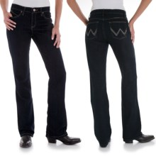 Wrangler Q-Baby Ultimate Riding Jeans - Cowgirl Cut (For Women) in Dark Dynasty - 2nds