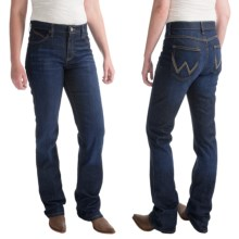 Wrangler Q-Baby Ultimate Riding Jeans - Cowgirl Cut (For Women) in Dark True Blue - 2nds