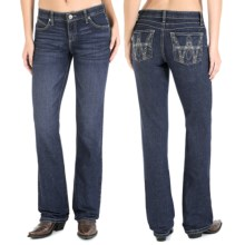Wrangler Q-Baby Ultimate Riding Jeans - Cowgirl Cut (For Women) in Denim Evening - 2nds