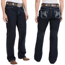 Wrangler Q-Baby Ultimate Riding Jeans - Cowgirl Cut (For Women) in Fm Wash Dark - 2nds