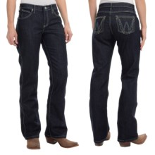 Wrangler Q-Baby Ultimate Riding Jeans - Cowgirl Cut (For Women) in Pretty Lady Dark - 2nds