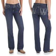 Wrangler Q-Baby Ultimate Riding Jeans - Cowgirl Cut (For Women) in Washed Indigo - 2nds