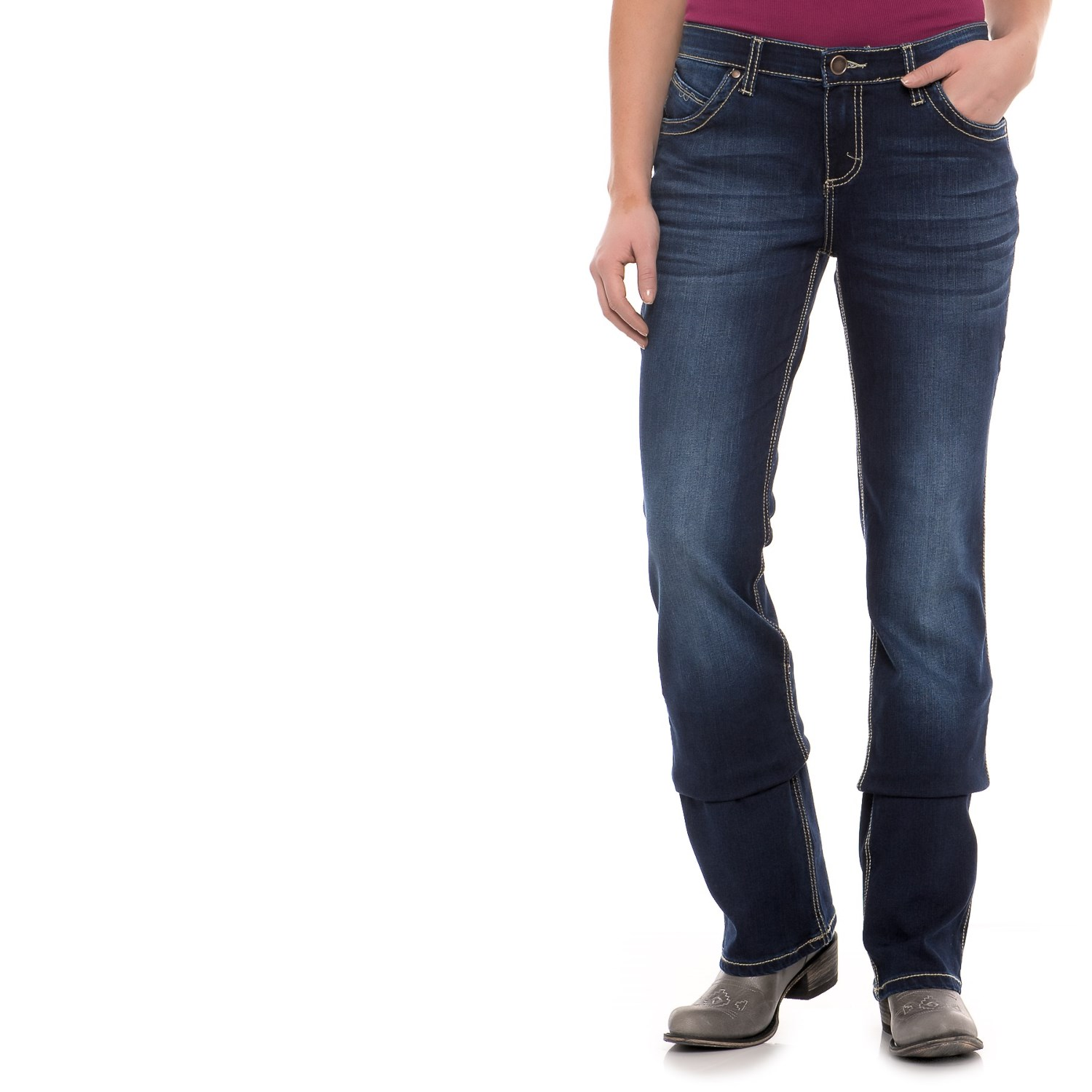 db943371cc7 169XX 7 Wrangler Q-Baby Ultimate Riding Jeans - Sits Below the Waist