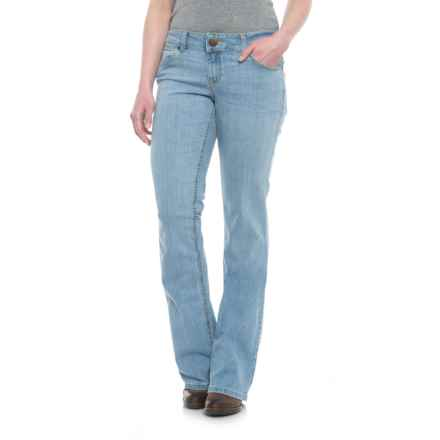 Wrangler Retro Booty-Up Bootcut Jeans (For Women) in Light Rough Stone - 2nds