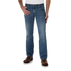Wrangler Retro Jeans - Slim Fit, Bootcut (For Men) in Worn In Blue