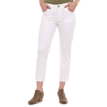 Wrangler Retro Mae Crop Jeans - Mid Rise (For Women) in White - Closeouts