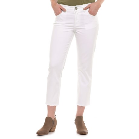 Wrangler Retro Mae Crop Jeans - Mid Rise (For Women) in White