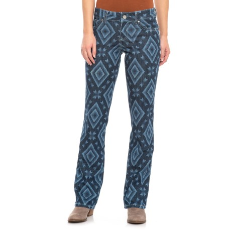d6d40467 Wrangler Retro Mae Printed Jeans- Mid Rise, Straight Leg (For Women) in