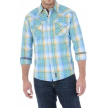 Wrangler Retro Plaid Shirt - Snap Front, Long Sleeve (For Men) in Blue/Green/Yellow - Closeouts