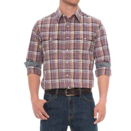 Wrangler Retro Plaid Shirt - Snap Front, Long Sleeve (For Men) in Purple - Closeouts