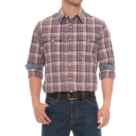 Wrangler Retro Plaid Shirt - Snap Front, Long Sleeve (For Men) in Purple