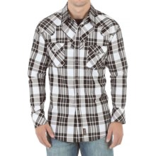 Wrangler Retro Shirt - Snap Front, Long Sleeve (For Men) in Black/White - Closeouts