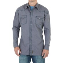 Wrangler Retro Shirt - Snap Front, Long Sleeve (For Men) in Grey - Closeouts