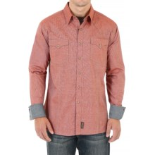 Wrangler Retro Shirt - Snap Front, Long Sleeve (For Men) in Rust - Closeouts