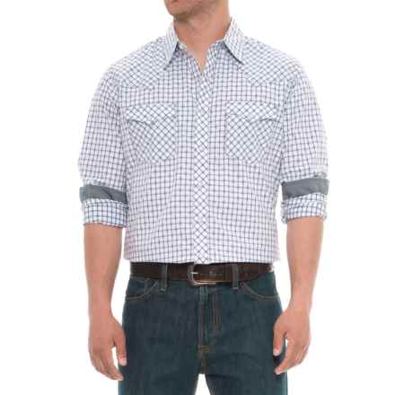 Wrangler Retro Snap-Front Shirt - Long Sleeve (For Big and Tall Men) in Navy - Overstock