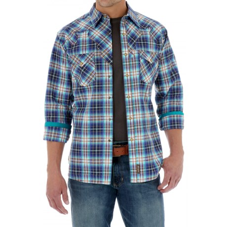 Wrangler Retro Western Shirt Snap Front, Long Sleeve (For Men)