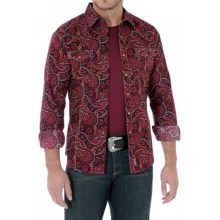 Wrangler Retro Western Shirt - Snap Front, Long Sleeve (For Men) in Red Paisley - Closeouts