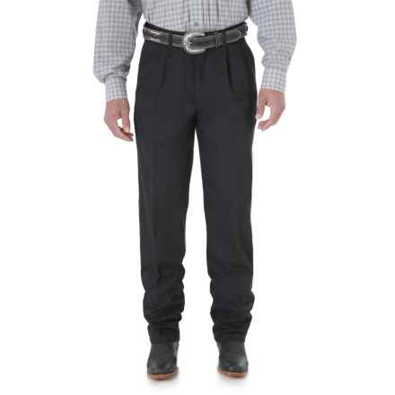 Wrangler Riata Casual Pants - Pleated Front, Relaxed Fit (For Men) in Black - 2nds