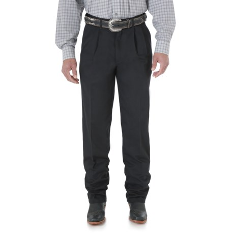 Wrangler Riata Casual Pants - Pleated Front, Relaxed Fit (For Men) in Black