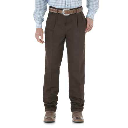 Wrangler Riata Casual Pants - Pleated Front, Relaxed Fit (For Men) in Dark Brown - 2nds