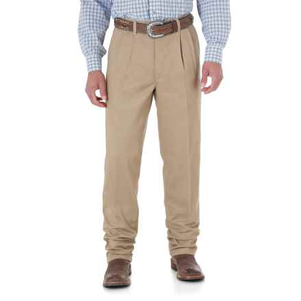 Wrangler Riata Casual Pants - Pleated Front, Relaxed Fit (For Men) in Goldenrod - 2nds