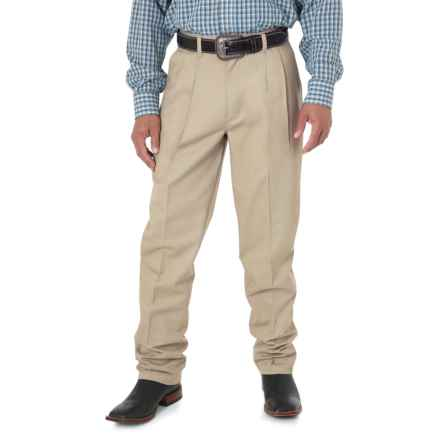 Wrangler Riata Casual Pants - Pleated Front, Relaxed Fit (For Men) in Khaki - 2nds