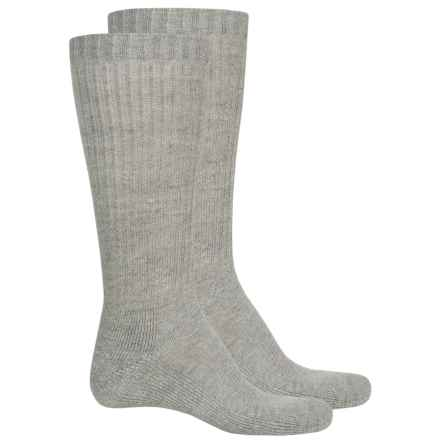 Wrangler RIGGS Workwear® Cotton Rib Work Socks - 2-Pack, Crew (For Men) in Gray - Closeouts
