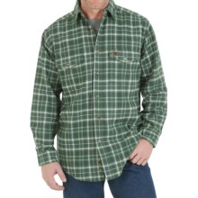 Wrangler Riggs Workwear Flannel Work Shirt - Heavyweight, Long Sleeve (For Men) in Olive Green - Closeouts