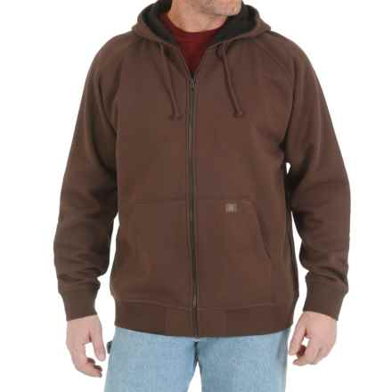 Wrangler Riggs Workwear Thermal-Lined Hoodie (For Men) in Brown - Closeouts