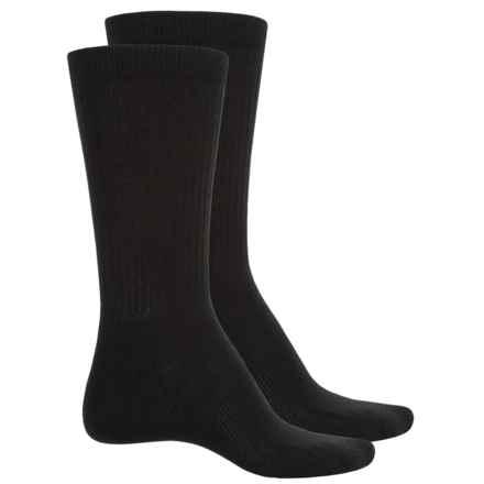 Wrangler RIGGS Workwear® Ultra-Dri Work Socks - 2-Pack, Crew (For Men) in Black/Black - Closeouts