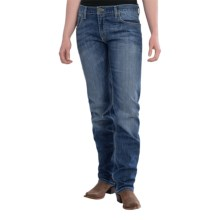 Wrangler Rock 47 Boyfriend Fit Jeans - Mid Rise, Straight Leg (For Women) in Golden Trail - 2nds