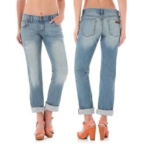 Wrangler Rock 47 Boyfriend Fit Jeans - Mid Rise, Straight Leg (For Women)
